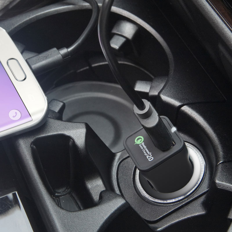 Quick Charge 2.0 USB Car Charger Image 4